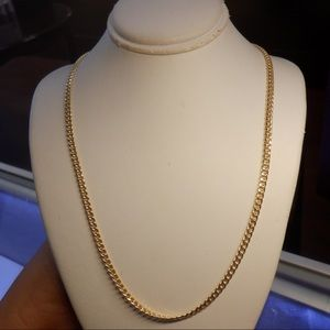 Jewelry - 14k solid real yellow gold cuban link necklace